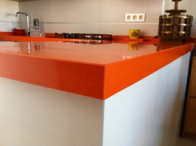 Silestone Orange Cool Kitchen